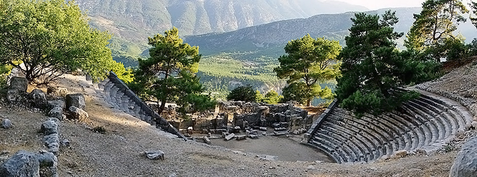 Aspendos, the ancient Greco-Roman city in Antalya,Turkey